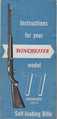 1950's Winchester Mod.77 Manual