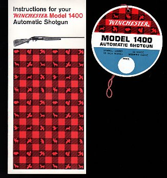 1960's Model 1400 Instructions w/tag
