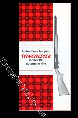 1972 Winchester Model 190 Rifle Manual