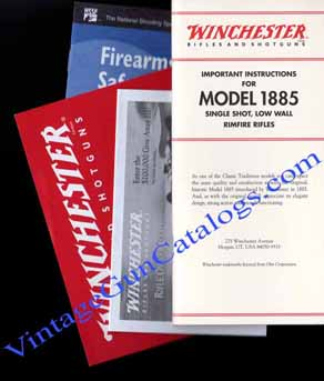 "2000 Winchester ""Model 1885 Rimfire SS Low Wall Rifle"" Manual"