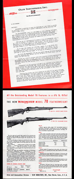 1952 Winchester Model 70 Ftwt .308 Announcement