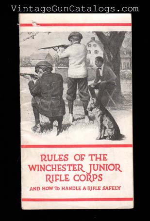 "1918 ""Rules Of The Winchester Junior Rifle Corps"" Pamphlet"