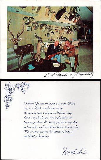 1960 Weatherby Inc. Xmas Card