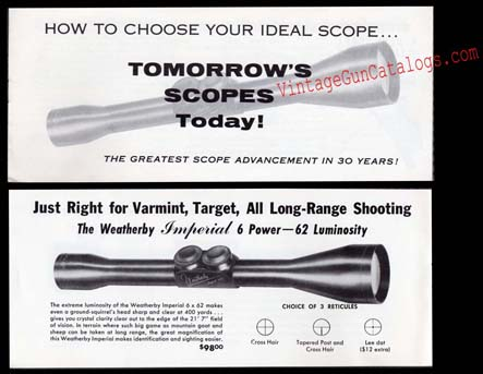 1950's Weatherby Scopes Catalog