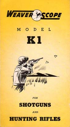 1960 Weaver K1 Scope brochure