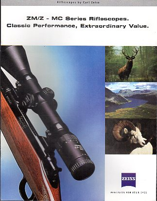 1998 Zeiss Catalog